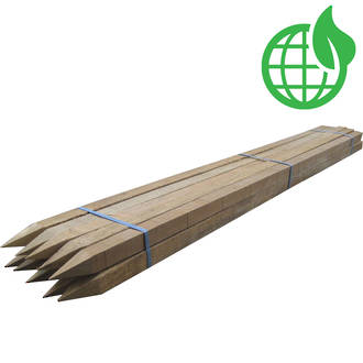 Untreated Wooden Stakes 10 Pack