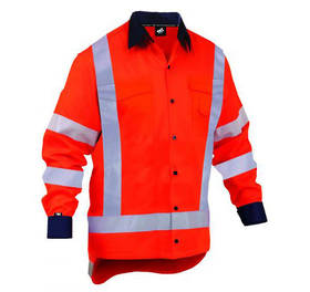 Light Hi Vis TTMC Safety Shirt Orange