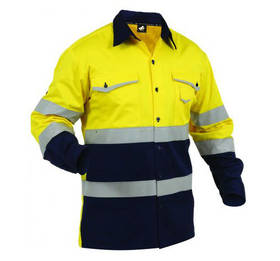 Light Hi Vis D/N Safety Shirt Yellow