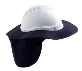 Hard Hat Brim with Neck Flap