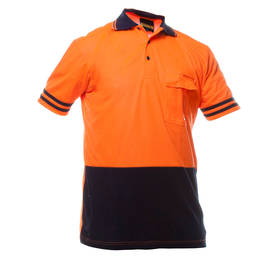 Day Only Polo S/S Shirt Orange