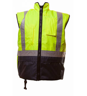 Day/Night Vest Fleece Lined Yellow